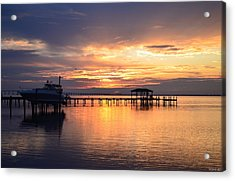 Acrylic Print featuring the photograph Sunrise Colors On The Sound by Jeff at JSJ Photography