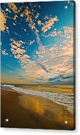 Sunrise Coming At The Shore. Acrylic Print by Bill Jonscher