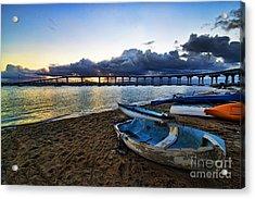 Sunrise - Coronado Bridge Acrylic Print by Peter Dang