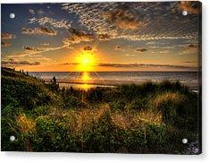 Sunrise Dune Acrylic Print by Greg and Chrystal Mimbs
