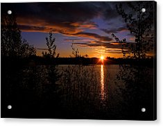 Sunrise Fairbanks Alaska Acrylic Print by Michael Rogers