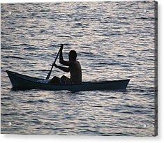 Sunrise Fisherman Acrylic Print