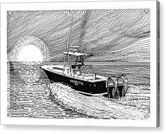 Sunrise Fishing Acrylic Print by Jack Pumphrey