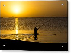 Sunrise Fishing Acrylic Print