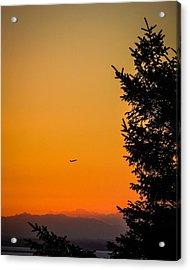 Sunrise Flight Departing Shannon Airport Acrylic Print