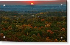 Sunrise From Atop Acrylic Print by Julie Franco