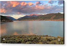 Sunrise From The Island At Deer Creek. Acrylic Print