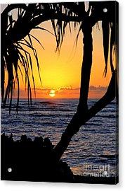 Sunrise Fuji Beach Kauai Acrylic Print