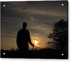 Sunrise Gardener Acrylic Print