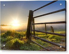 Sunrise  Gate Acrylic Print by Debra and Dave Vanderlaan