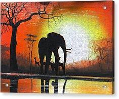 Sunrise In Africa Acrylic Print
