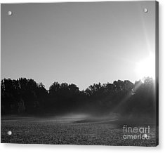 Acrylic Print featuring the photograph Sunrise In Black And White by Anita Oakley