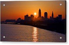 Sunrise In Cleveland Acrylic Print