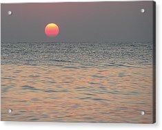Sunrise In Crete Acrylic Print by Sergey Simanovsky