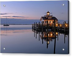 Sunrise In Manteo Acrylic Print