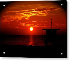 Sunrise In Miami Beach Acrylic Print