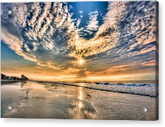 Sunrise In Myrtle Beach Acrylic Print by Brent Craft