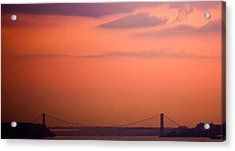 Acrylic Print featuring the photograph Sunrise In New York by Sara Frank