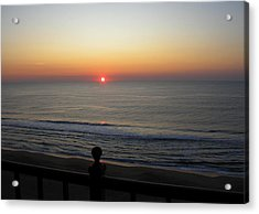 Acrylic Print featuring the photograph Sunrise In Ocean City by Victoria Lakes