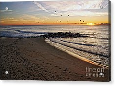 Acrylic Print featuring the photograph Sunrise In Ocean Grove by Debra Fedchin