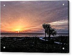 Sunrise In Orange Acrylic Print by Christina Manassa