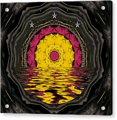 Sunrise In Paradise Pop Art Acrylic Print by Pepita Selles