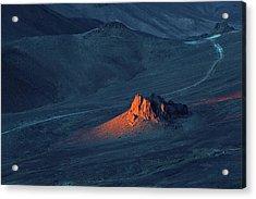 Sunrise In Saharan Mountains Acrylic Print by Martin Rietze