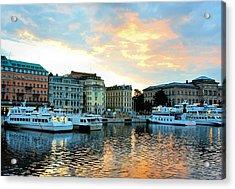 Sunrise In Stockholm Acrylic Print by Jenny Hudson