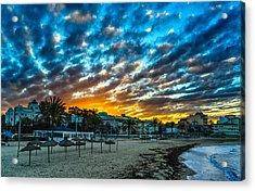 Sunrise In The Beach Acrylic Print by Maksims Novikovs