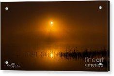 Sunrise In The Fog Acrylic Print