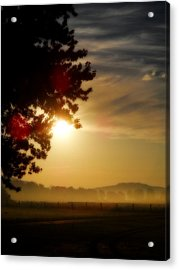 Sunrise In The Hills Acrylic Print