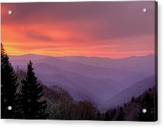 Sunrise In The Smoky Mountains Acrylic Print by Dennis Govoni