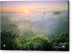 Sunrise In Tikal Acrylic Print