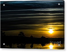 Acrylic Print featuring the photograph Sunrise In Virginia by Angela DeFrias