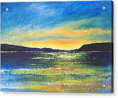 Acrylic Print featuring the painting Sunrise by Jane  See
