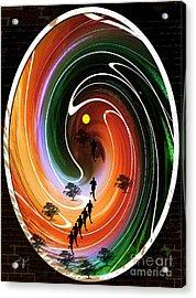 Sunrise Joggers  Acrylic Print