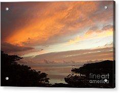 Sunrise Kaneohe Bay Acrylic Print by Mukta Gupta
