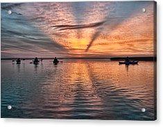 Sunrise Kayaking Acrylic Print