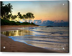 Sunrise Keawakapu Beach Acrylic Print by Kelly Wade