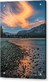 Sunrise Kiva Beach Acrylic Print by Mitch Shindelbower