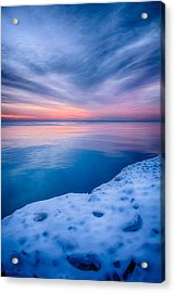 Sunrise Lake Michigan 12-19-13 2 Acrylic Print