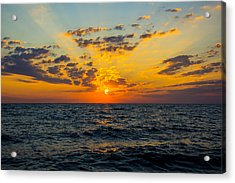 Sunrise Lake Michigan August 10th 2013 001 Acrylic Print