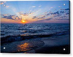 Sunrise Lake Michigan August 10th 2013 002 Acrylic Print