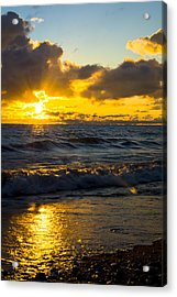 Sunrise Lake Michigan August 30th 2013 001  Acrylic Print
