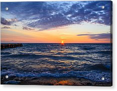Sunrise Lake Michigan August 8th 2013 001 Acrylic Print