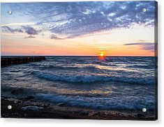 Sunrise Lake Michigan August 8th 2013 003 Acrylic Print