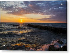 Sunrise Lake Michigan August 8th 2013 005 Acrylic Print