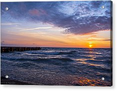Sunrise Lake Michigan August 8th 2013 007 Acrylic Print