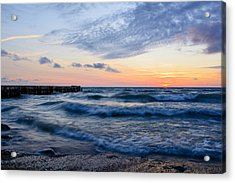Sunrise Lake Michigan August 8th 2013  Acrylic Print