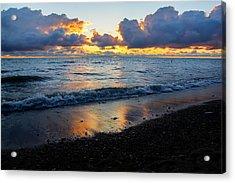 Sunrise Lake Michigan September 2nd 2013 002 Acrylic Print